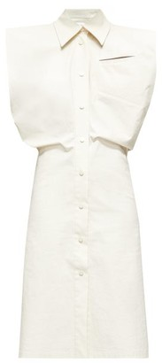 Bottega Veneta Structured Canvas Shirt Dress - White