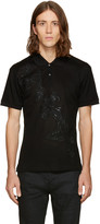 Alexander McQueen Black Embroidered Butterfly Polo