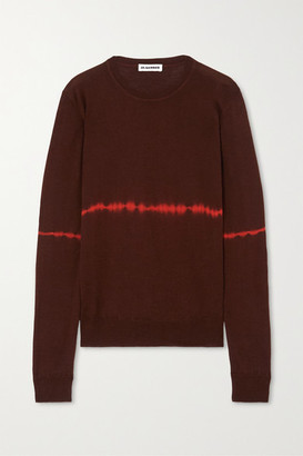 Jil Sander Tie-dyed Wool And Silk-blend Sweater - Brown