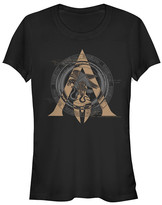 Fifth Sun Women's Tee Shirts BLACK - Assassin's Creed Black Odyssey Stamp Crewneck Tee - Women & Juniors
