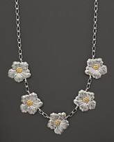 """Buccellati Blossom"""" 5 Medium Flower Necklace with Gold Accents, 21"""""""