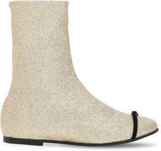 Gia Couture Glittered Neoprene Ankle Boots