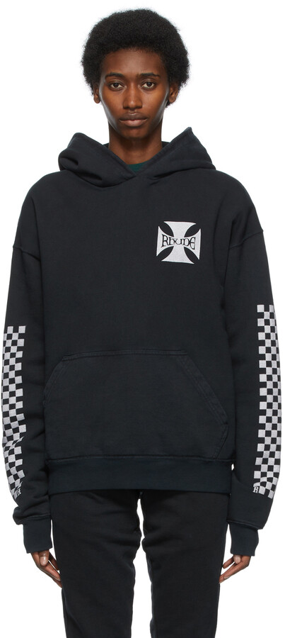 Thumbnail for your product : Rhude Black Classic Checkers Hoodie