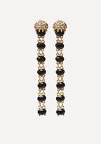 Bebe Lion & Black Stone Earrings