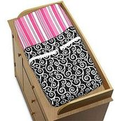 Pink and Black Madison Girls Baby Changing Pad Cover by Sweet Jojo Designs