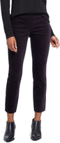 Nic+Zoe Stretch Velvet Side Zip Ankle Pants