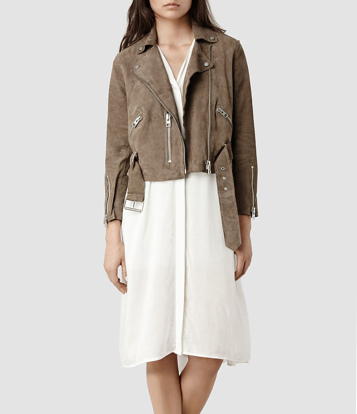 AllSaints Hind Leather Biker Jacket