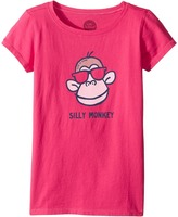 Life is Good Silly Monkey Crusher Tee Girl's T Shirt