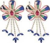 Shourouk Alcantara Flower earrings