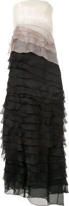 Paule Ka layered colour-block dress