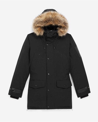 The Kooples Faux-fur woven parka coat