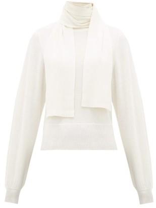 See by Chloe Tie-neck Bishop-sleeve Sweater - Womens - Ivory