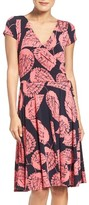Maggy London Petite Women's Leaf Wrap Dress