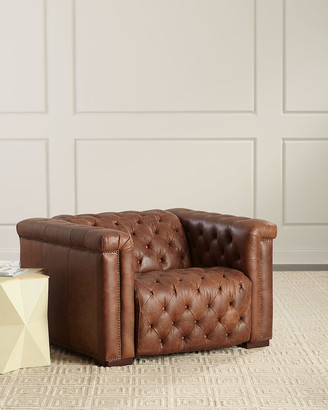 Hooker Furniture Luca Tufted Leather Motion Chair