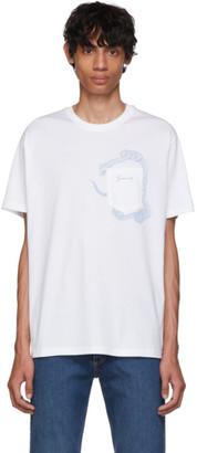 Givenchy White Snake Pocket T-Shirt