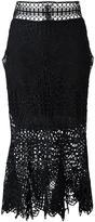 Jonathan Simkhai bridge lace trumpet skirt - women - Polyester/Spandex/Elastane/Silk - 6