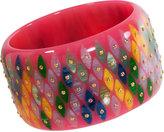 Mark Davis Bakelite & Multicolor Sapphire Diamond Bangle