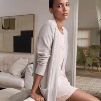 The White Company Cotton Jersey Embroidered Nightie, Cloud Pink, Medium