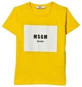 MSGM Yellow Branded Tee