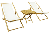 Lounge Chair Set with Table (3 PC)