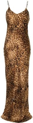 Nili Lotan Leopard Print Slip Dress