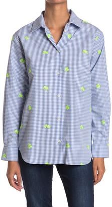 Paul & Joe Sister Renata Floral Embroidered Gingham Tunic Shirt