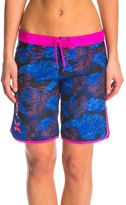 "Hurley Women's Supersuede Printed 9"" Beachrider Palm Boardshort 8142641"
