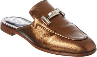 Tod's Metallic Leather Mule