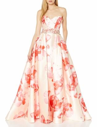 Mac Duggal Women's Sweetheart Floral Makkado Gown