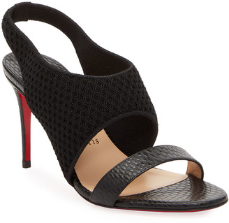 Christian Louboutin Georgette Stiletto Slingback Red Sole Sandals