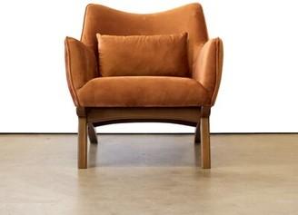 Ivy Bronx Abbie Armchair Fabric: Orange Velvet