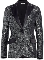 Teri Jon By Rickie Freeman Sequin Tuxedo Jacket