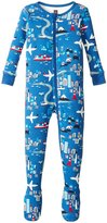 Tea Collection Japan Footed Pajamas (Baby) - Regal Blue -6-12 Months