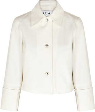 Loewe White Cropped Denim Jacket