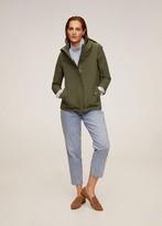 MANGO Hooded cotton parka green - XS - Women