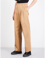 Raf Simons Relaxed-fit high-rise cotton chinos