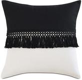 One Kings Lane Mila 20x20 Outdoor Pillow - Black/Sand