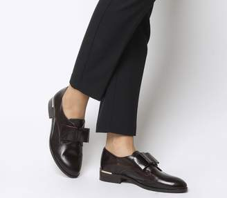 Office Flexa Slip On With Bow Flats Burgundy Groucho Leather With Heel Clip