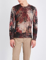 Etro Floral and paisley-print cashmere jumper