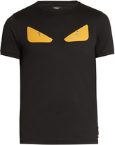 Fendi Bag Bugs-appliqué cotton-jersey T-shirt