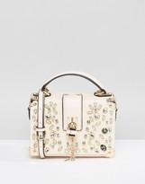 Aldo Blush Jewelled Top Handle Bag
