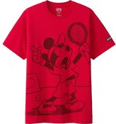 Uniqlo Men Mickey Plays Short Sleeve Graphic T-Shirt