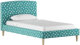 One Kings Lane Sloan Kids' Bed - Aqua/White Linen - twin