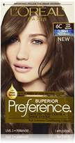 L'Oreal Superior Preference Fade-Defying Color + Shine System, 6C Cool Light Brown (Packaging May Vary)