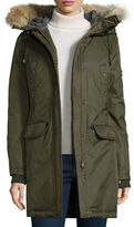 Spiewak Fur-Hood Mid-Length Parka Jacket