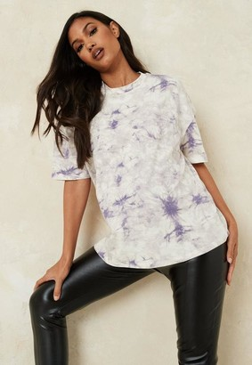 Missguided Lilac Co Ord Tie Dye Maternity T Shirt