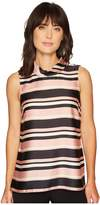 Vince Camuto Sleeveless Modern Chords Roll Neck Tunic