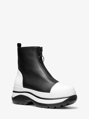 Michael Kors Esme Calf Leather Surf Boot