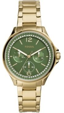 Fossil Women's Sadie Gold-Tone Stainless Steel Bracelet Watch 38mm