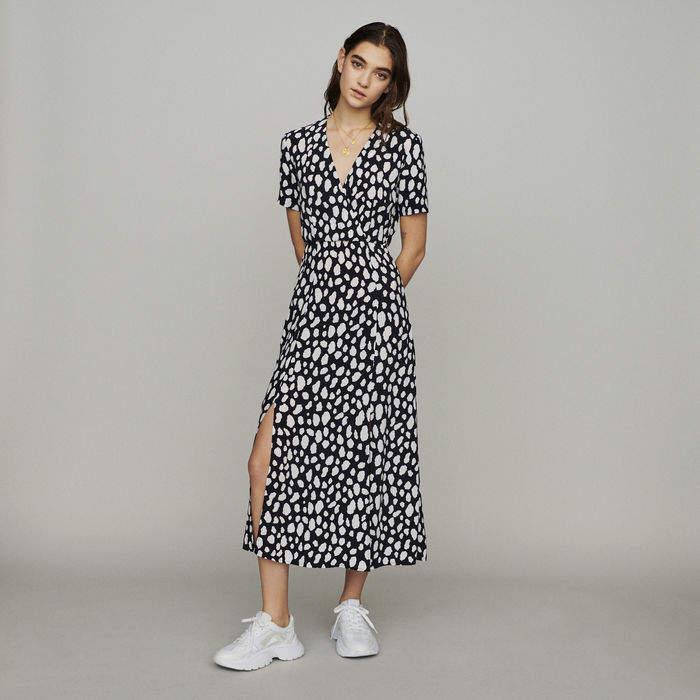 Maje Long printed dress